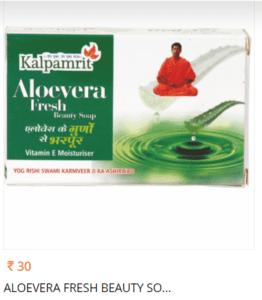 Kalpamrit Aloevera Fresh Beauty soap