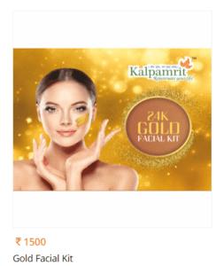 Kalpamrit Gold facial