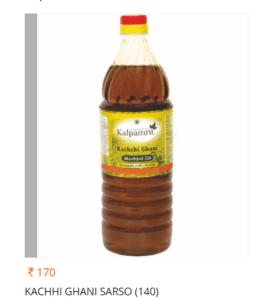 Kalpamrit Kachchi Ghani Sarso Oil