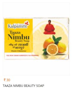Kalpamrit Taaza Nimbu soap